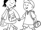 Caillou Clementine Coloring Page
