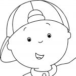 Caillou Face Coloring Page