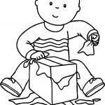 Caillou New Gift Coloring Page