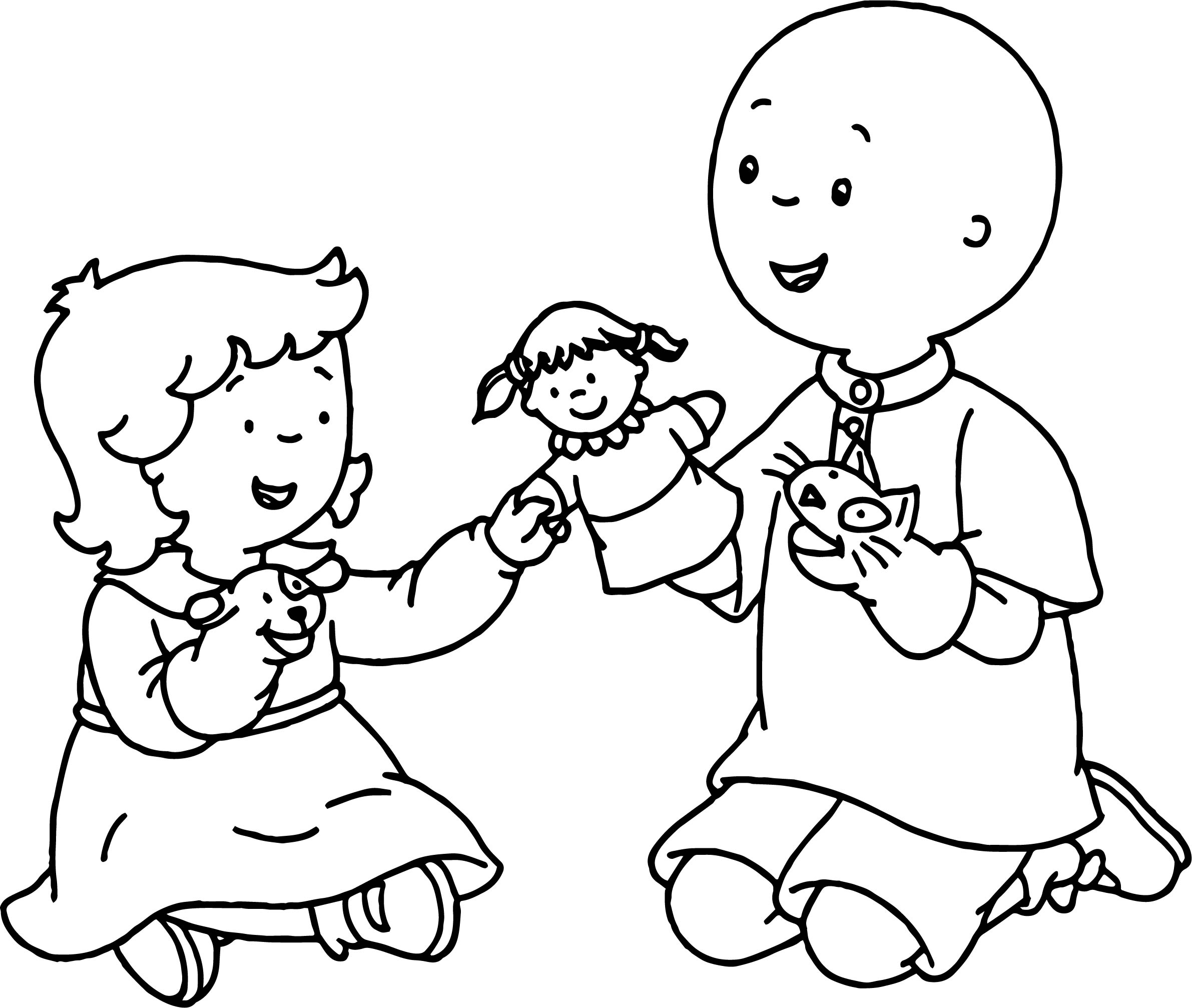 Modern Caillou Rosie Coloring Pages Embellishment - Resume Ideas ...