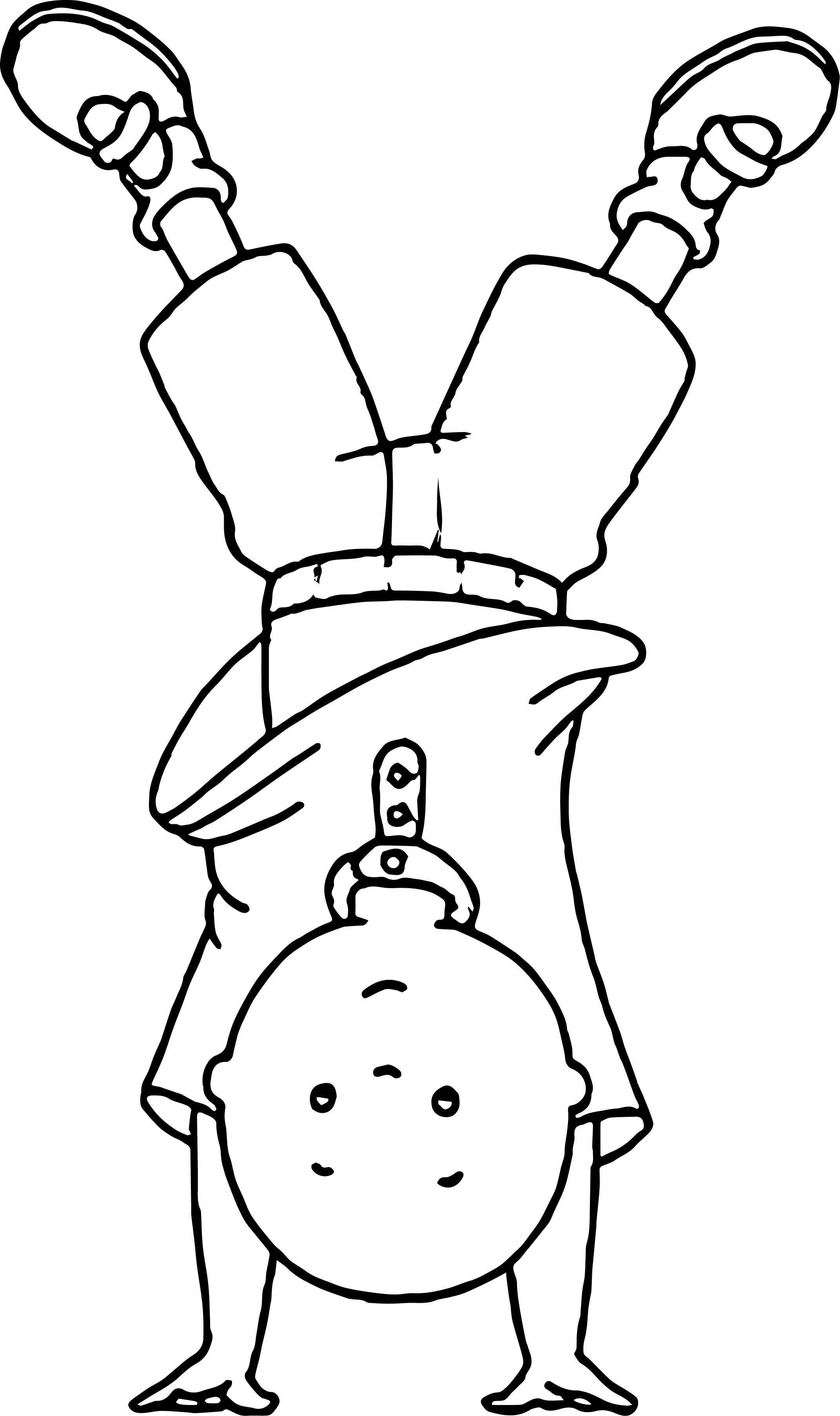 Caillou Tumble Coloring Page
