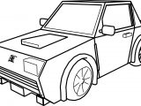 Car For Cartoon Coloring Page
