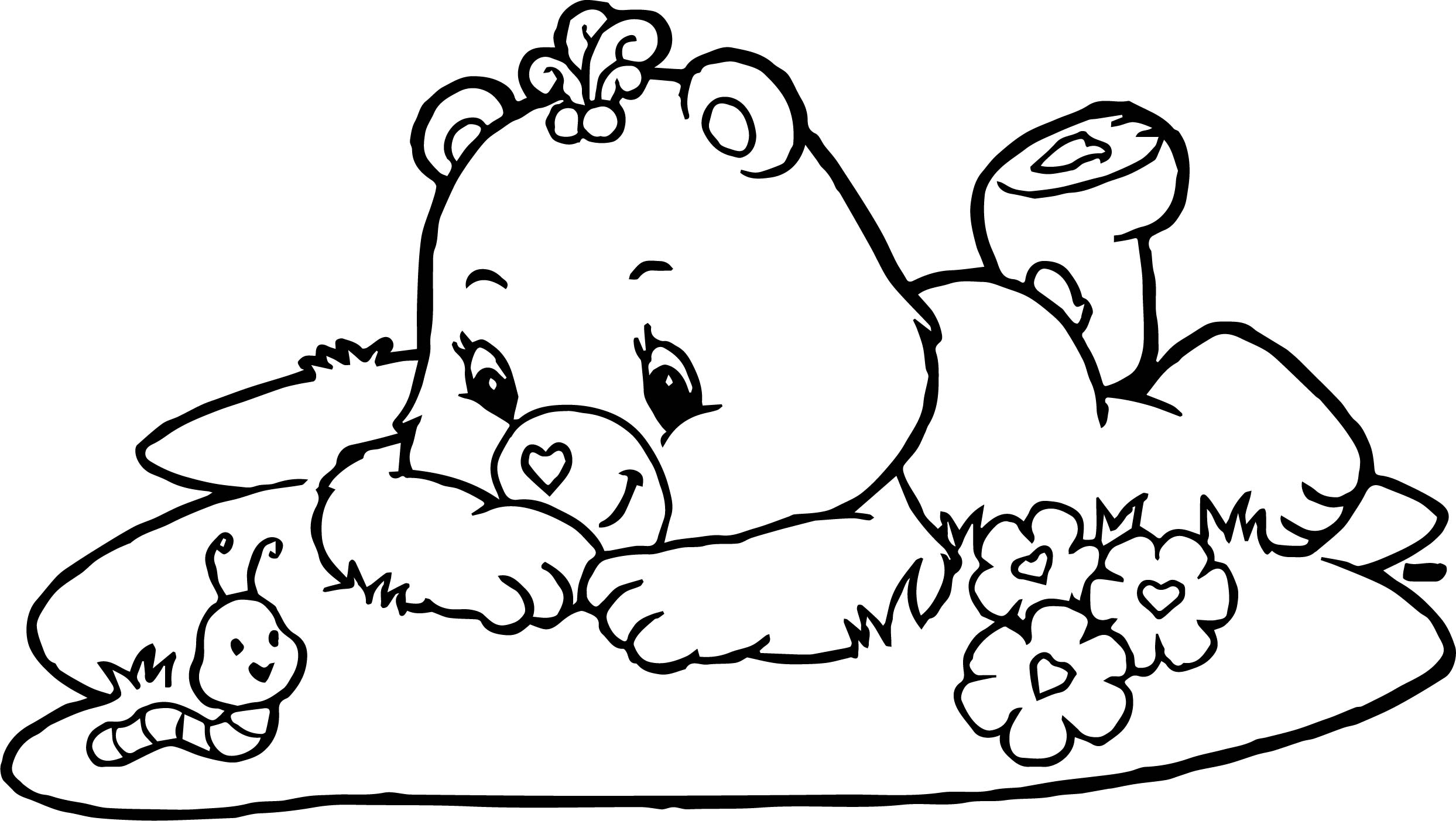 care bears adventures in care a lot worm coloring page
