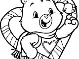 Care Bears And Bird Adventures in Care A Lot Coloring Page