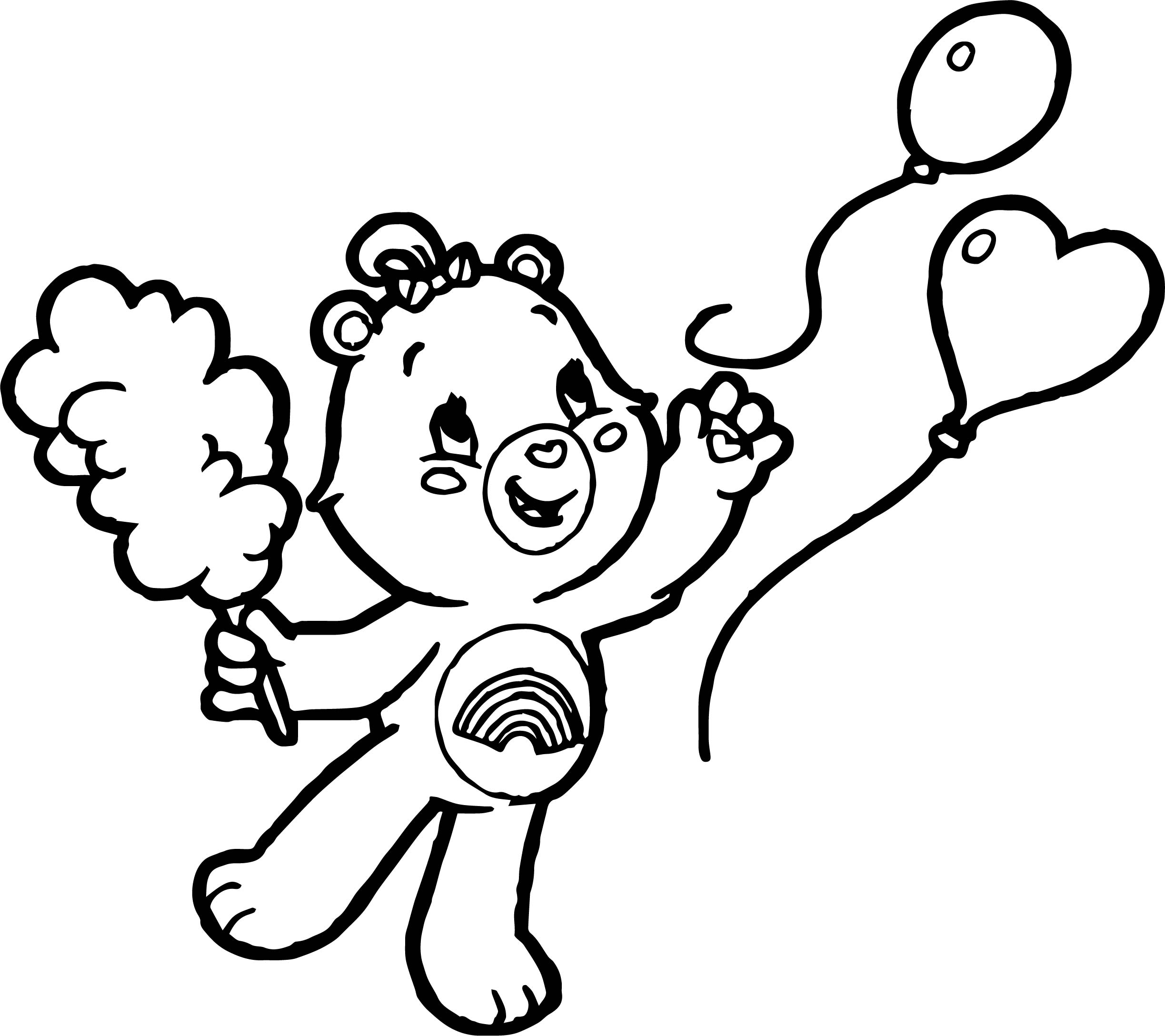Care Bears Balloon Fly Adventures in Care A Lot Coloring Page