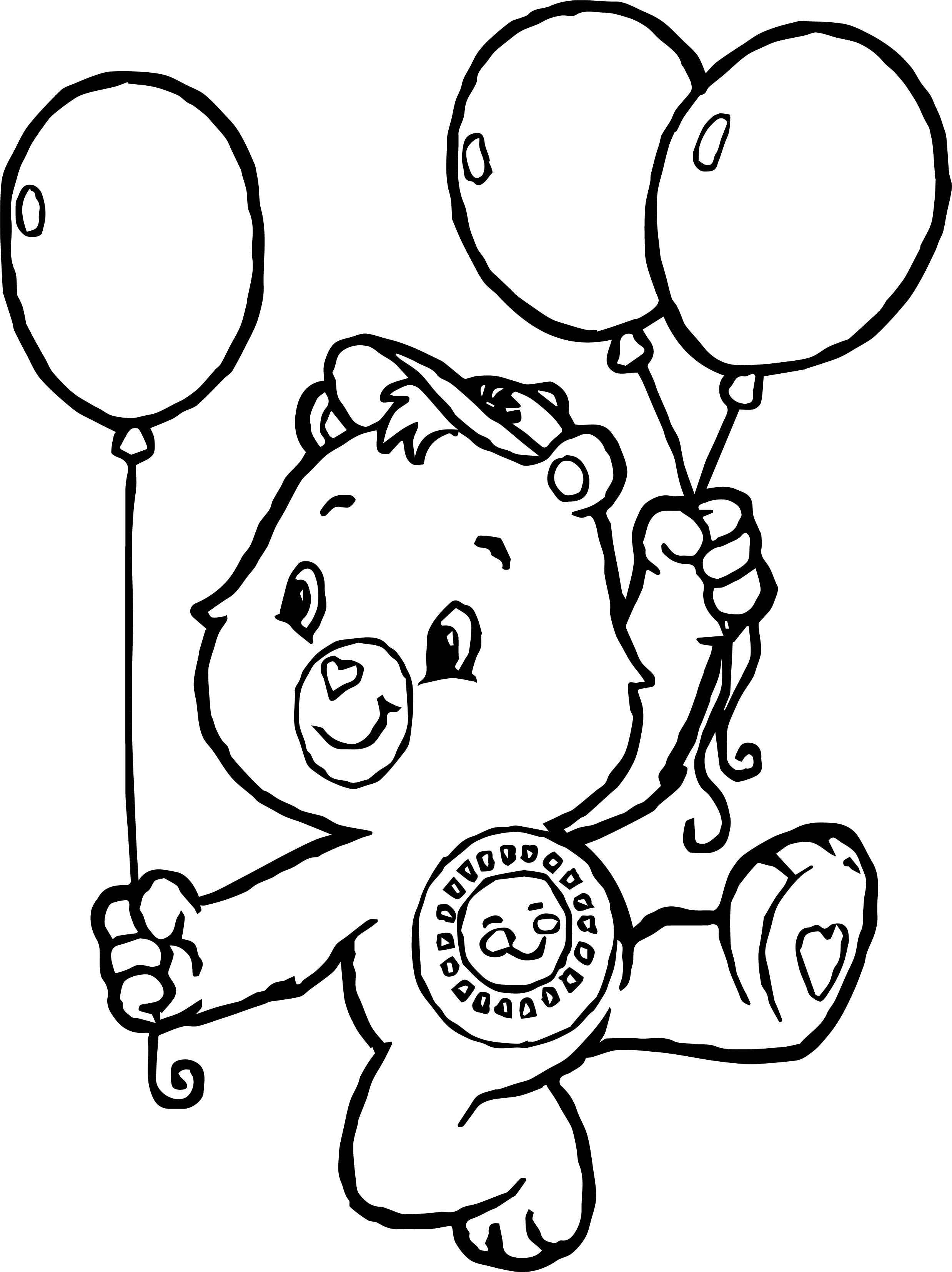 Care Bears Balloons Adventures in Care A Lot Coloring Page