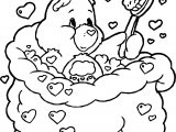 Care Bears Bath Coloring Page