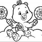 Care Bears Candy Adventures in Care A Lot Coloring Page