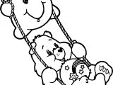 Care Bears Cloud Swing Coloring Page