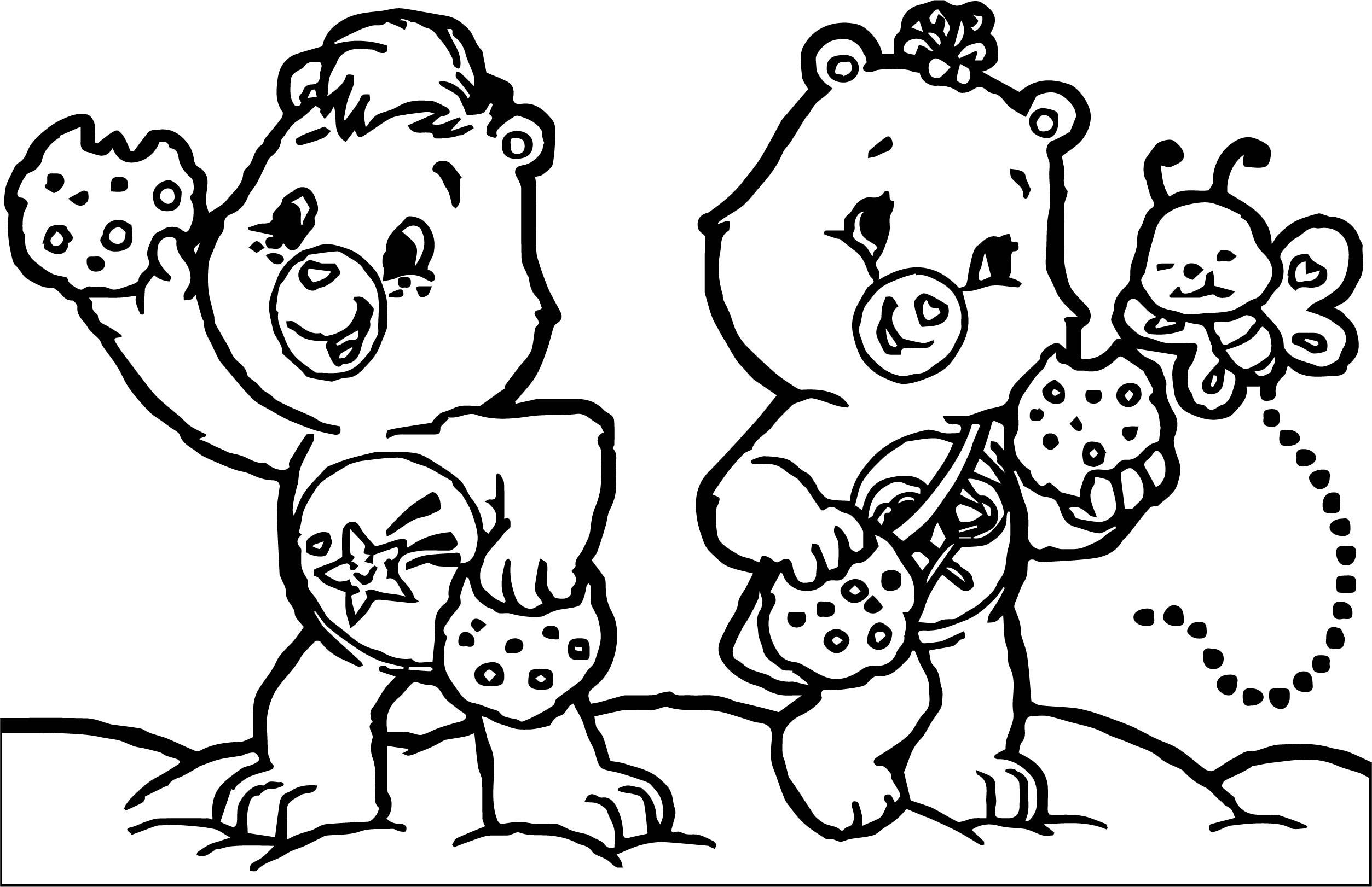 Care Bears Cookie Adventures In Care A Lot Coloring Page