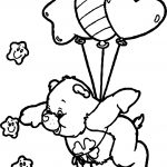 Care Bears Fly Balloon Coloring Page