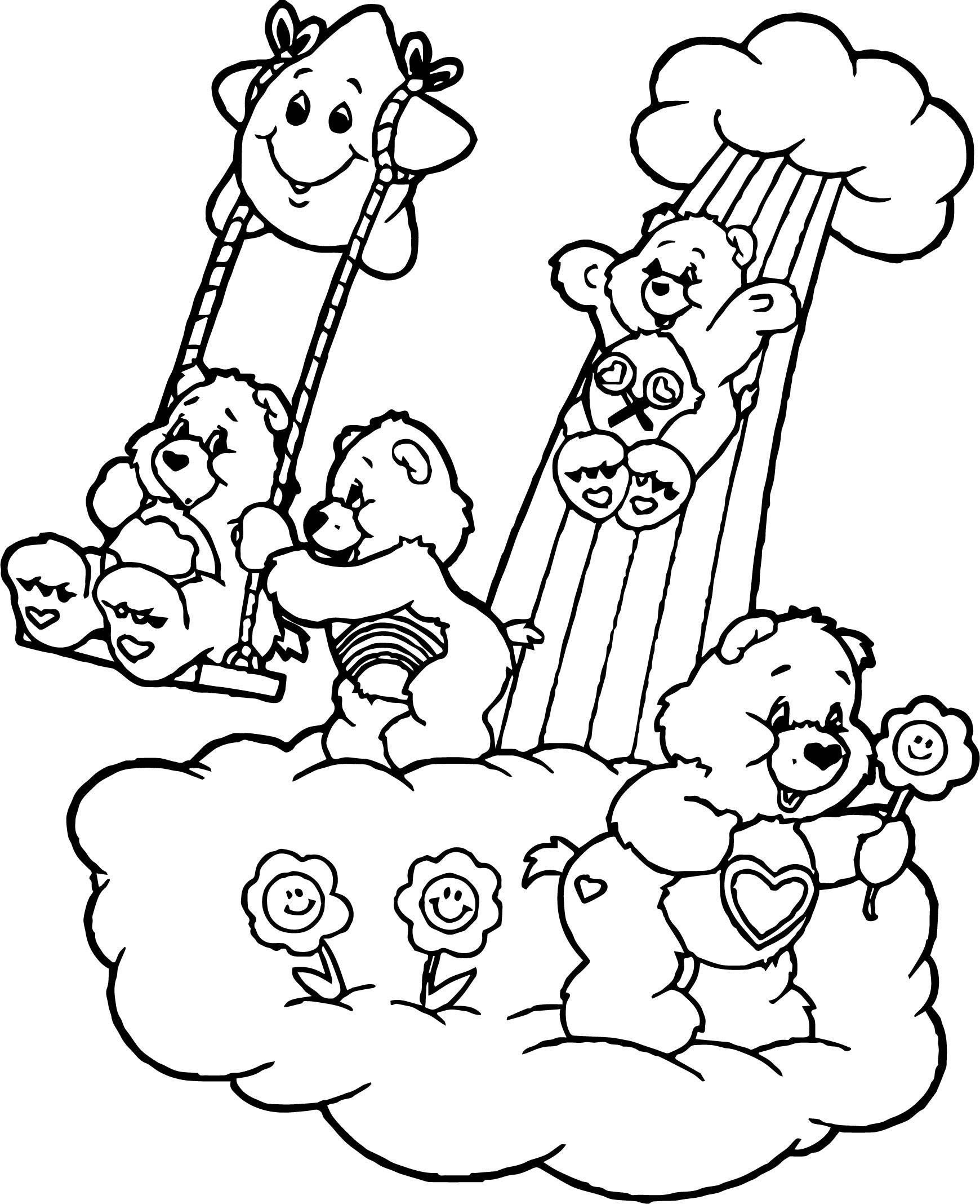 Care Bears Friends Coloring Page