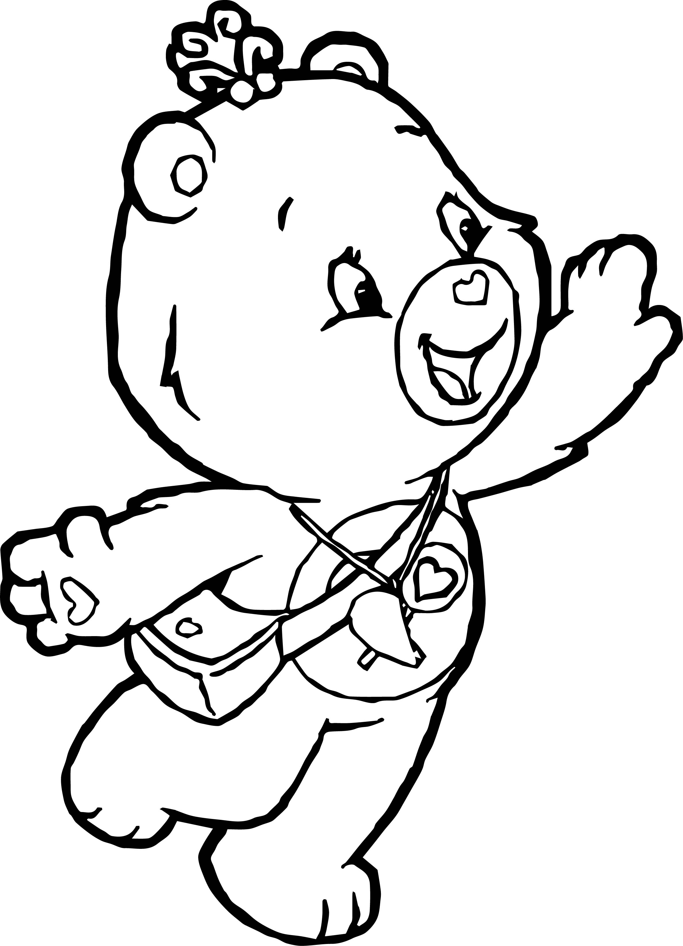 Care Bears Funny Adventures in Care A Lot Coloring Page