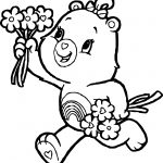Care Bears Give Flower Adventures in Care A Lot Coloring Page