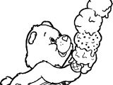 Care Bears Ice Cream Coloring Page