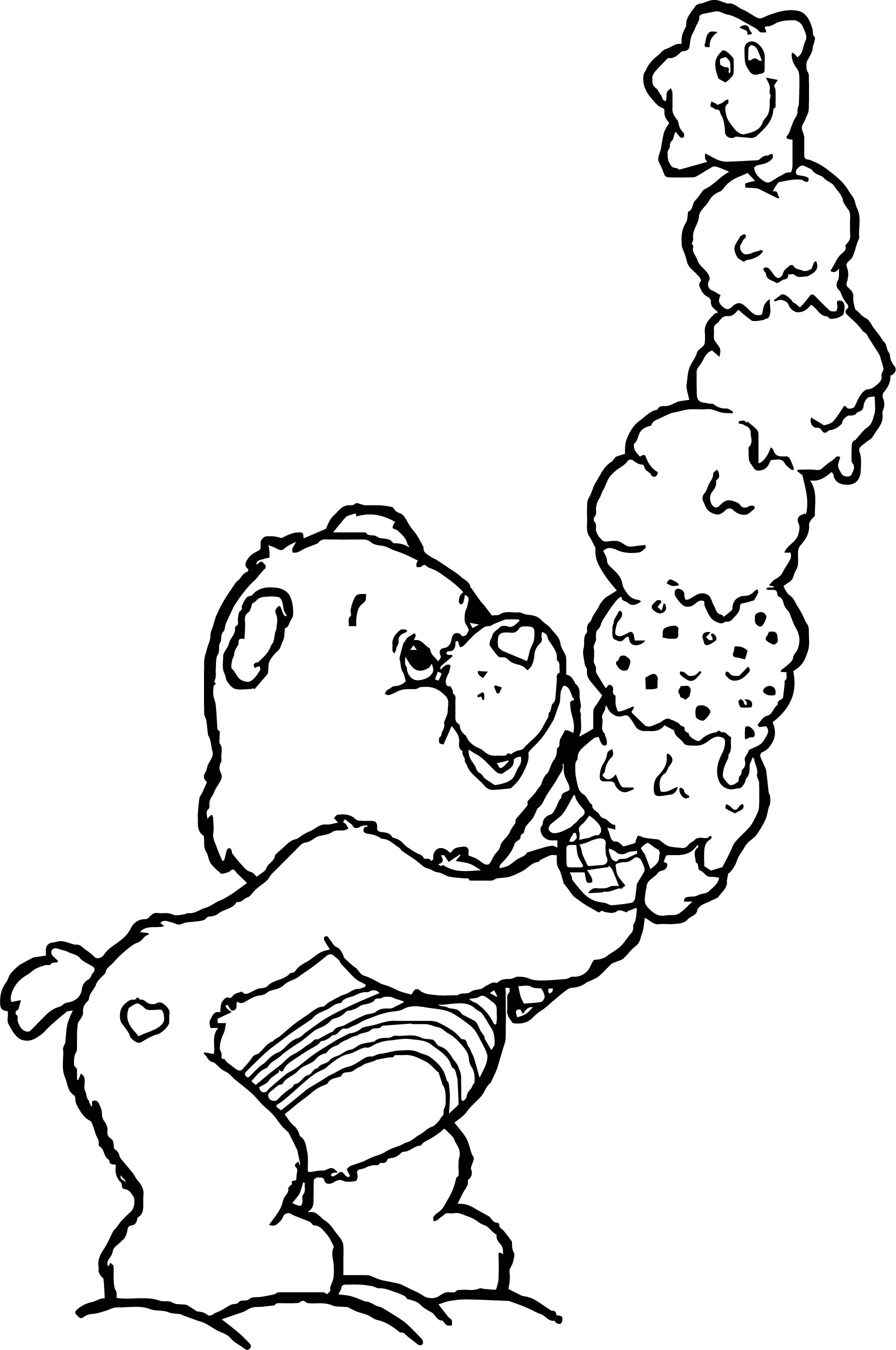 Care Bears Ice Cream Coloring Page | Wecoloringpage.com