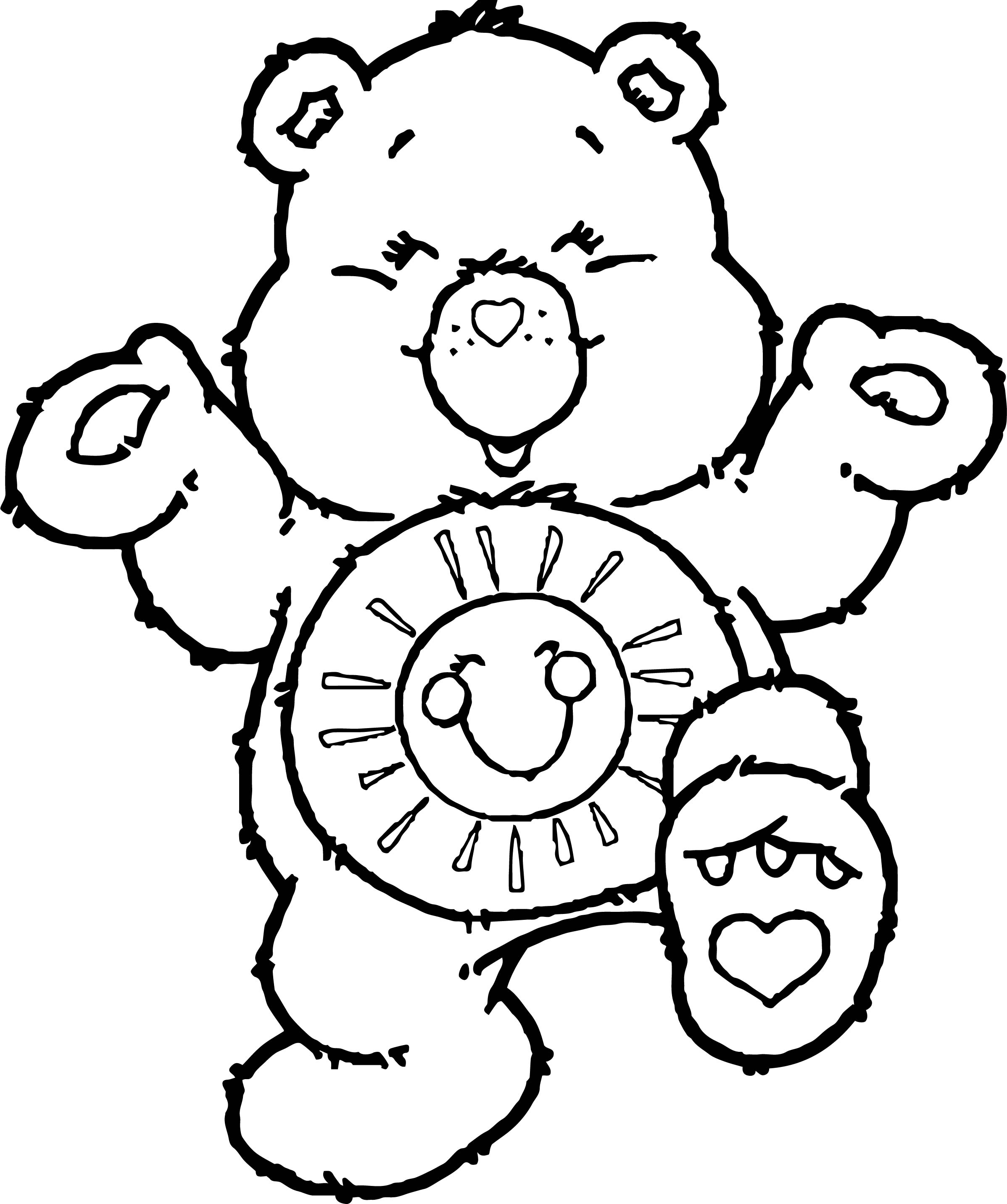 Care bears joy coloring page for Joy coloring pages