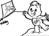Care Bears Kite Adventures in Care A Lot Coloring Page