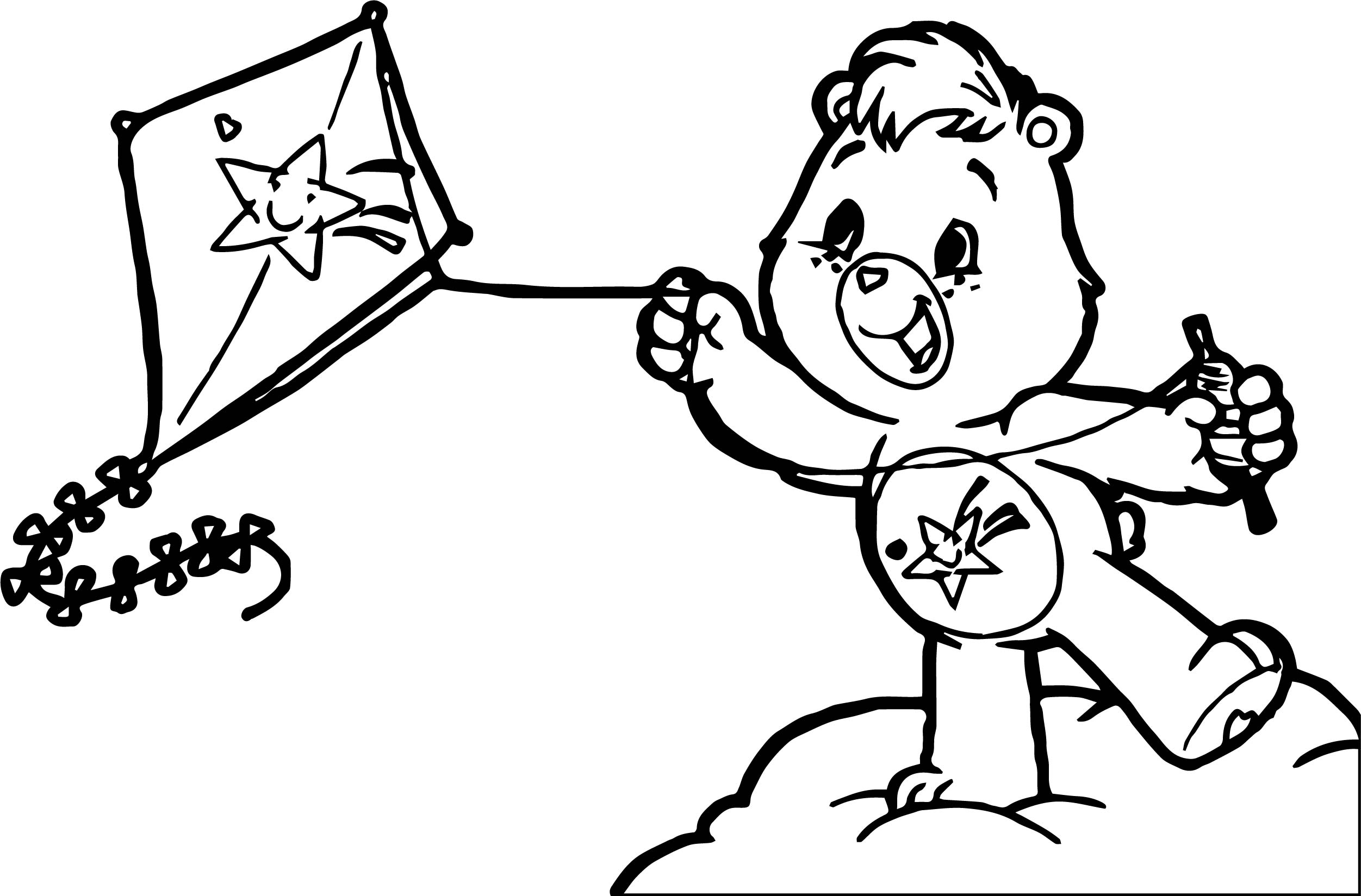 Care Bears Kite Adventures In Care A Lot Coloring Page ...