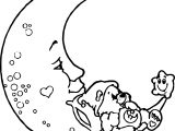 Care Bears Moon Coloring Page