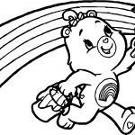 Care Bears Rainbow Brush Adventures in Care A Lot Coloring Page