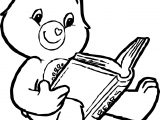 Care Bears Reading Book Adventures in Care A Lot Coloring Page