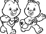 Care Bears Running Adventures in Care A Lot Coloring Page