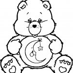 Care Bears Sleep Time Coloring Page
