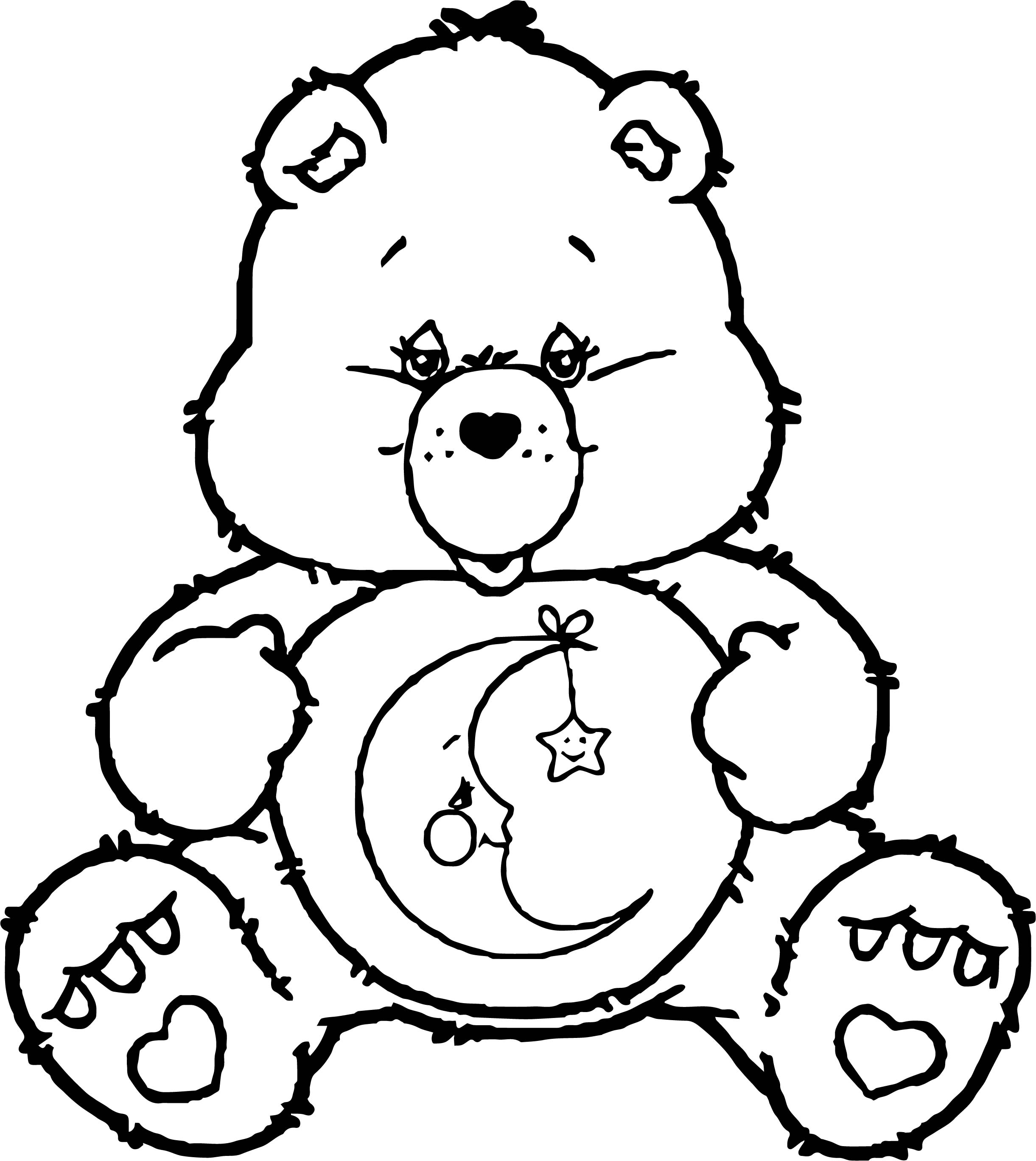Care bears sleep time coloring page for Care bears coloring pages printable