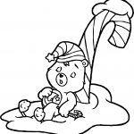 Care Bears Sleeping Adventures in Care A Lot Coloring Page