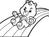 Care Bears Sliding Rainbow Adventures in Care A Lot Coloring Page