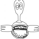 Cartoon Chompie Coloring Page