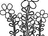 Cartoon Daisies Coloring Page