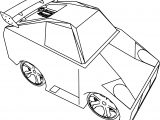 Cartoon Lambo Tune Cars Coloring Page