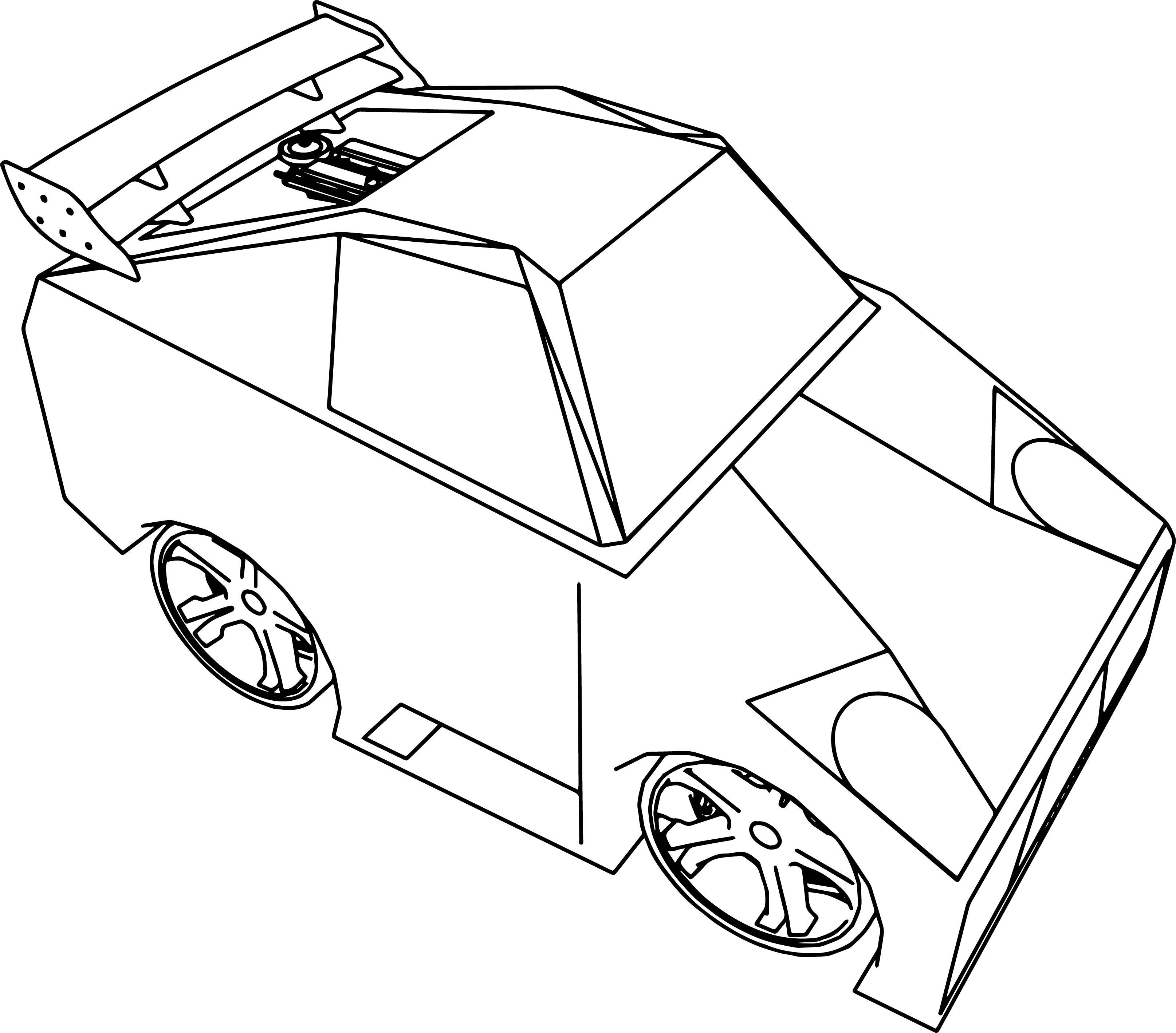 Cartoon Lambo Tune Cars Coloring Page