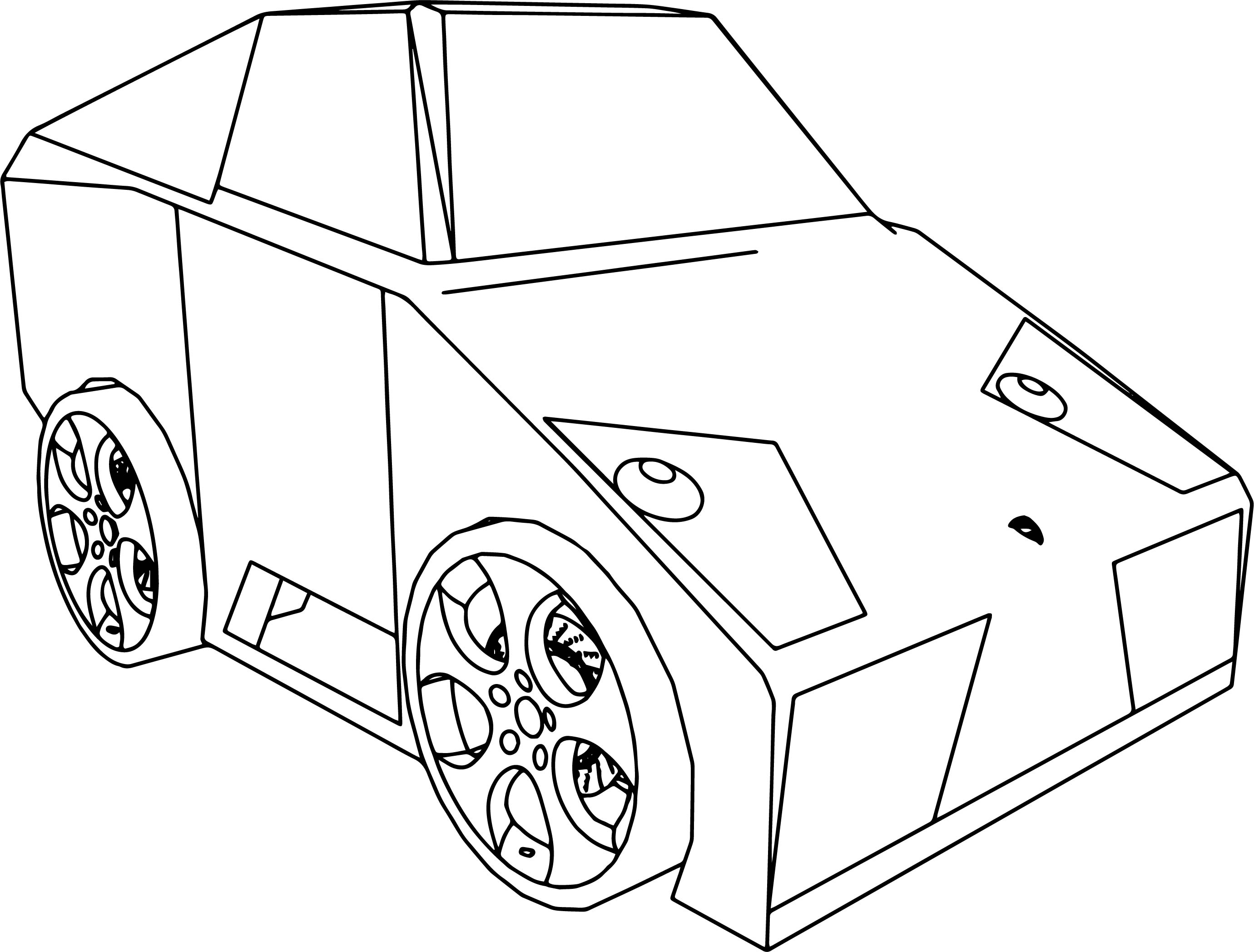 cartoon lamborghini murcielago tuned camper car coloring pages
