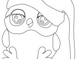 Cartoon Owls Cute Christmas Night Sleep Coloring Page