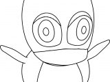 Cartoon Penguin Coloring Page