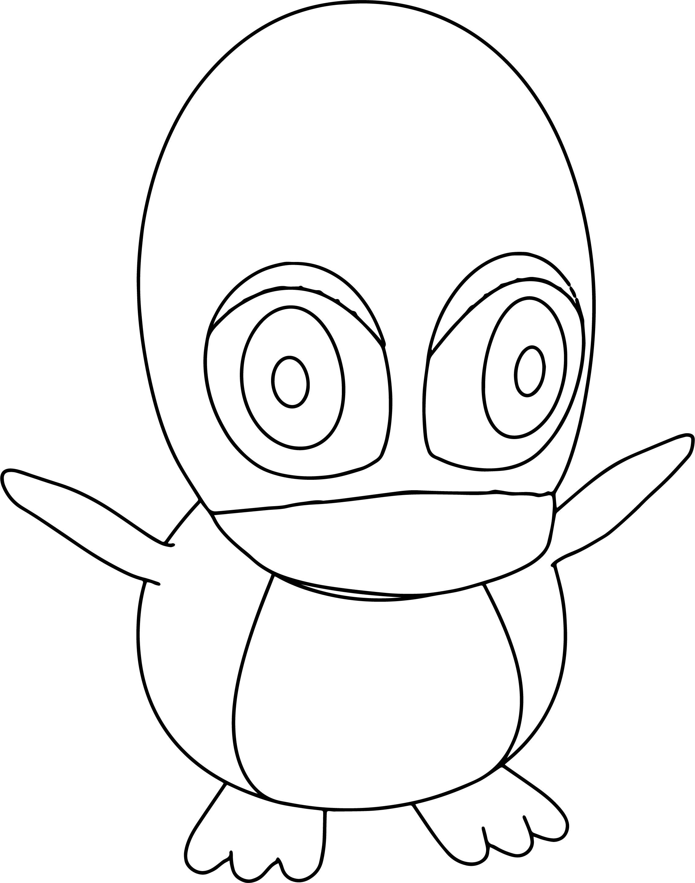 Cartoon Penguin Coloring Page