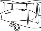 Cartoon Plane Coloring Page