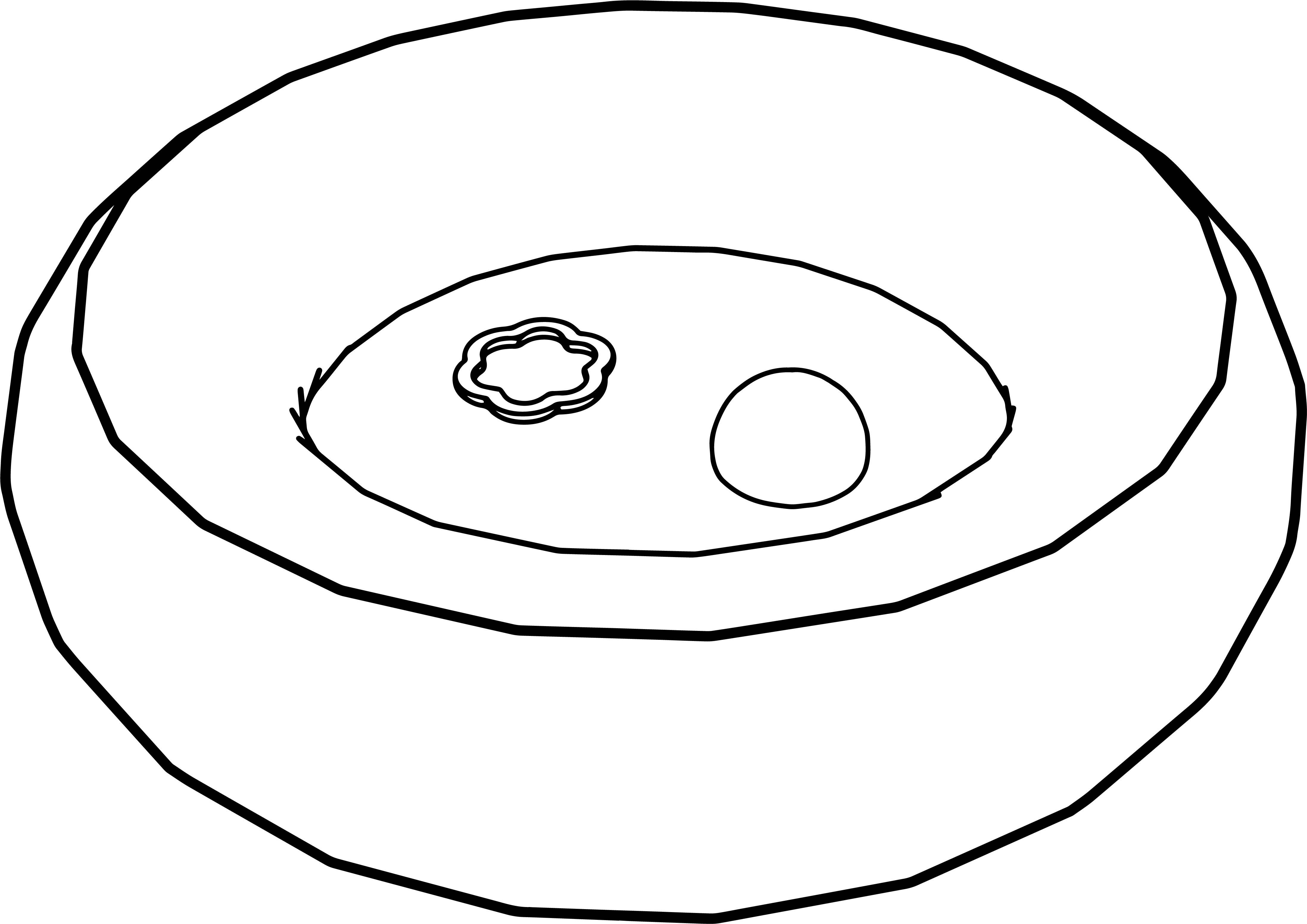 Cartoon Pool Coloring Page