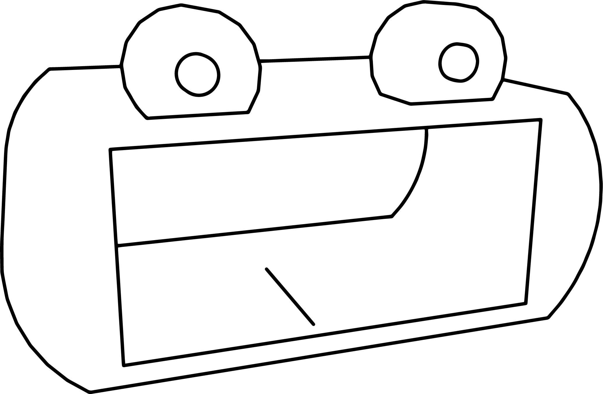 Cartoon Rectrangle Frog Head Coloring Page