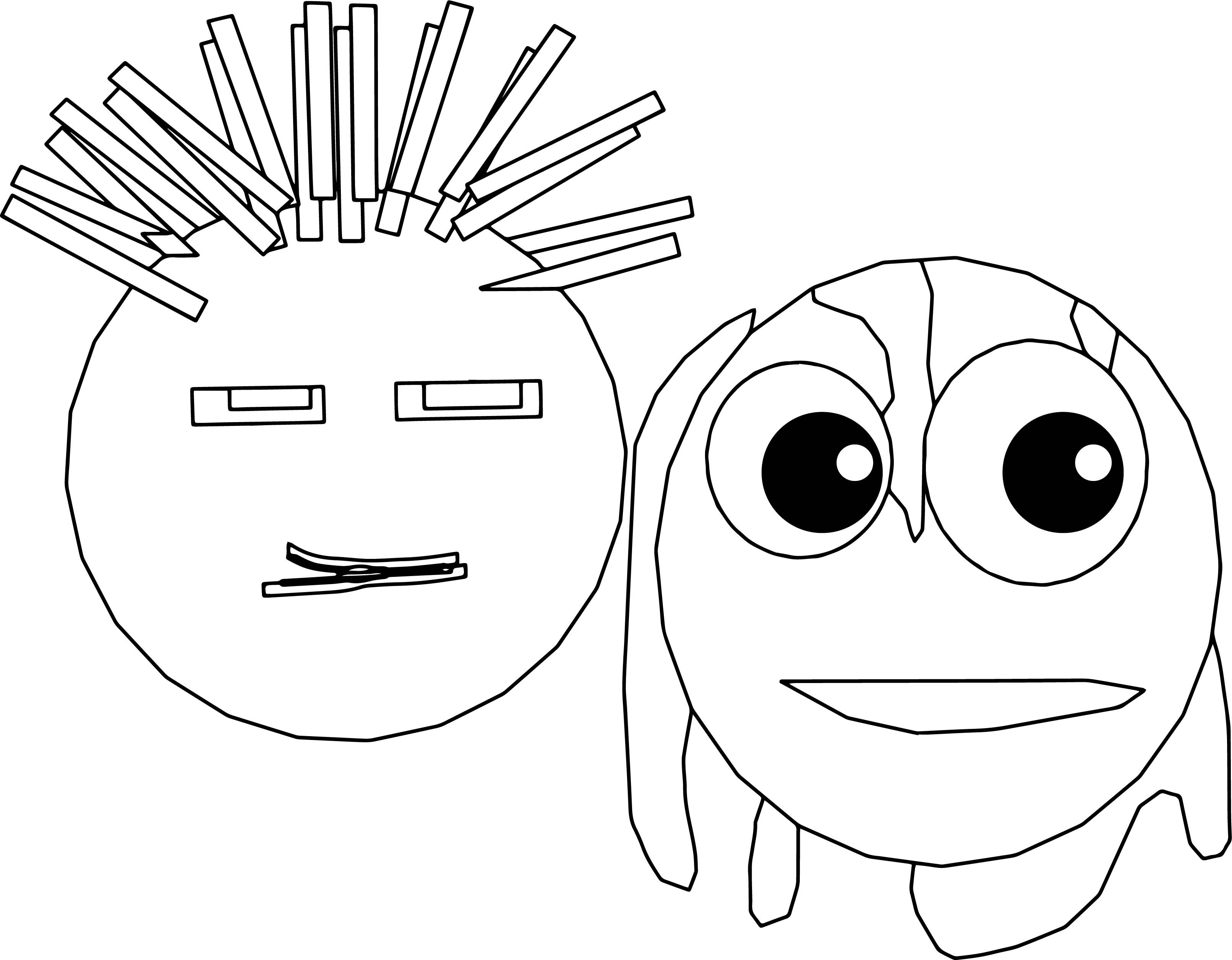 Cartoon Slipknot Masks Coloring Page