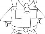 Cartoon Space Man Coloring Page