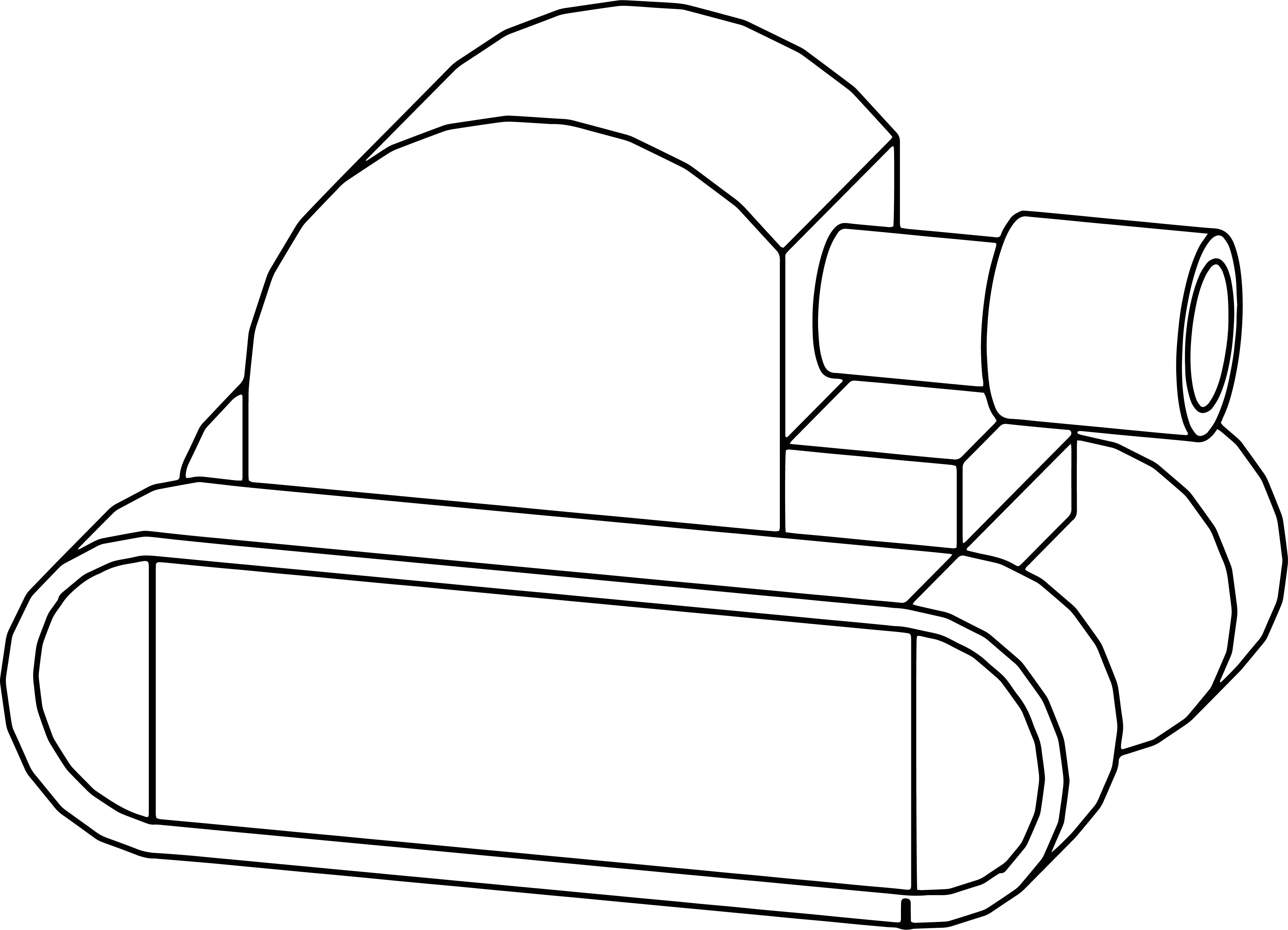 Cartoon tank coloring page for Tank coloring page