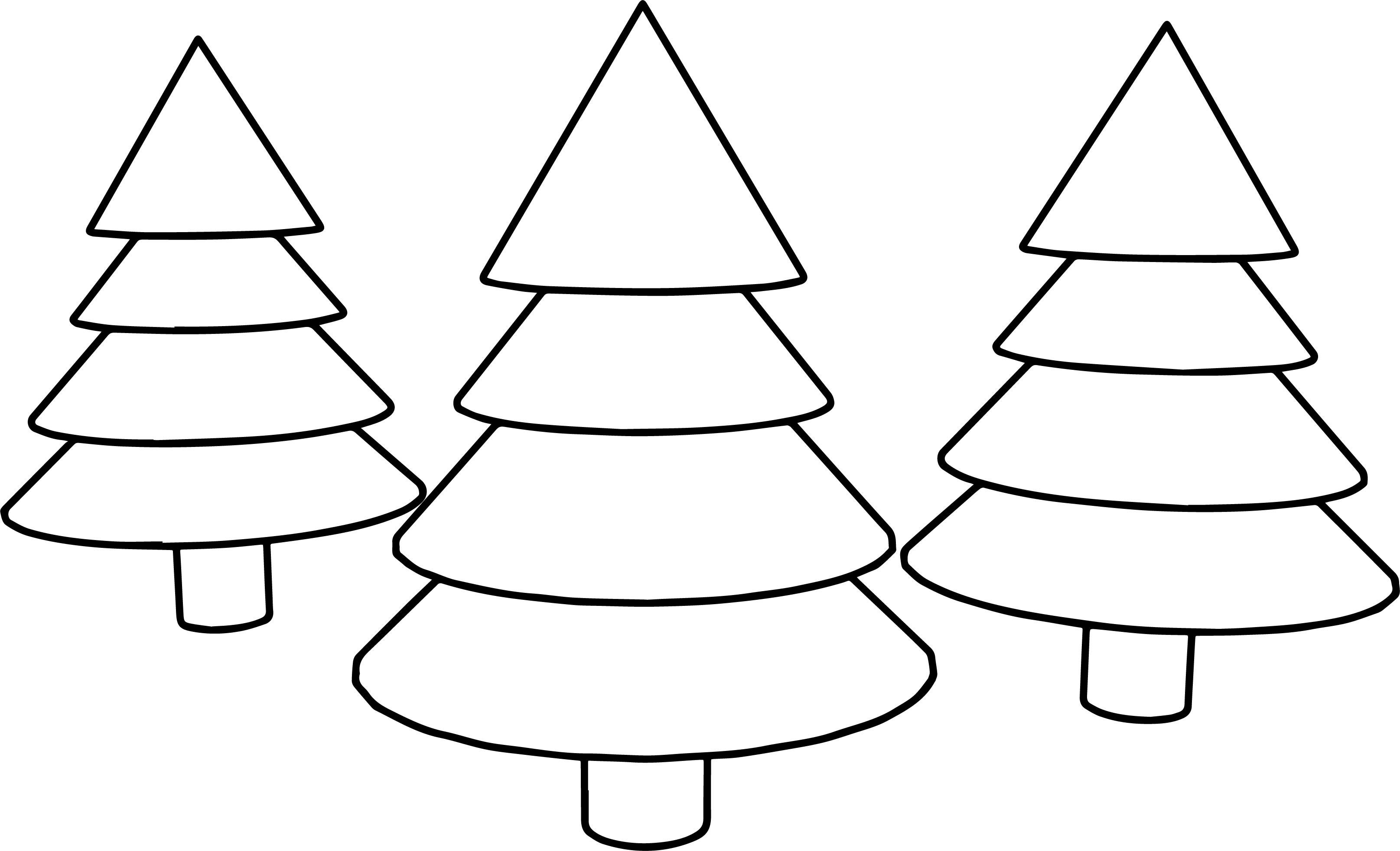 cartoon tree coloring page
