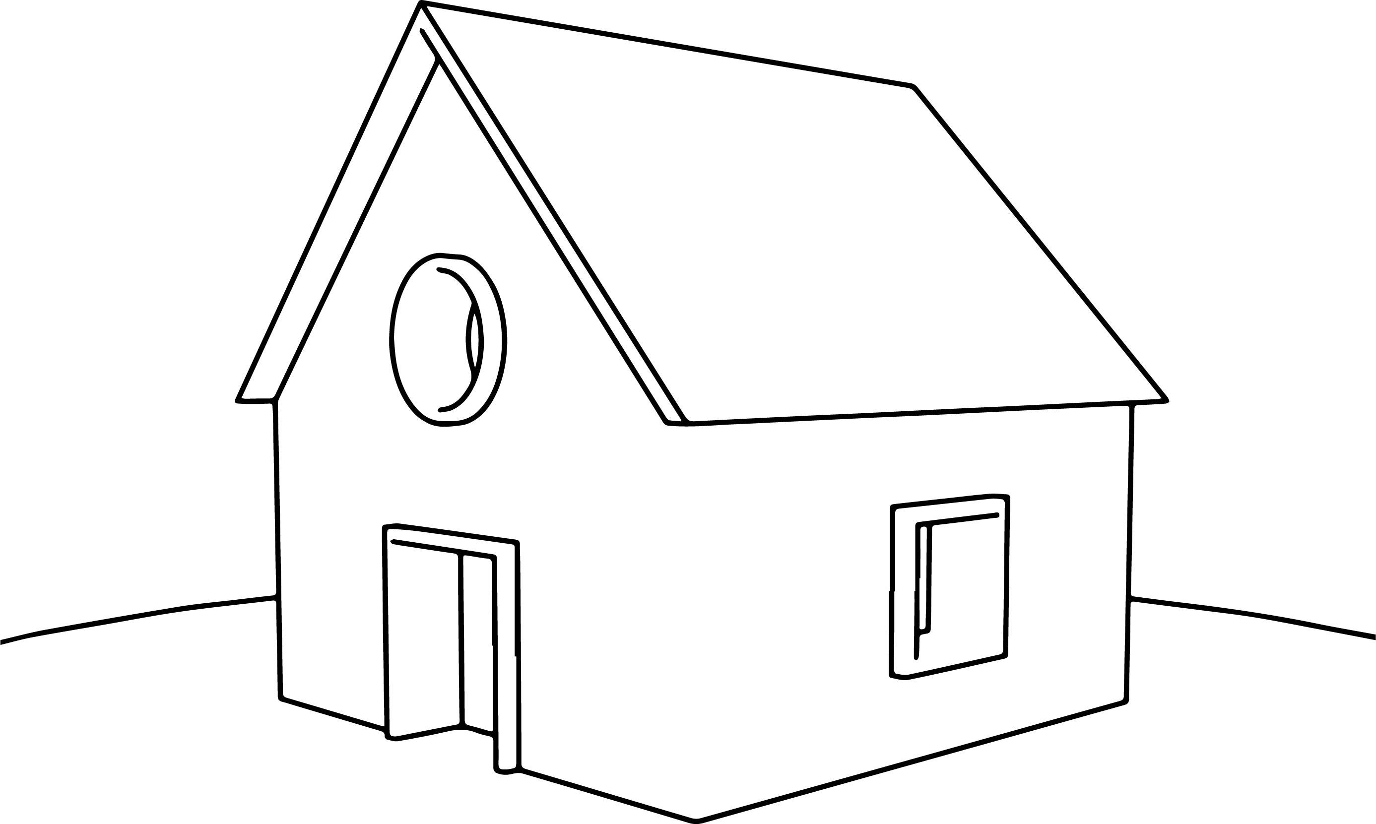 Casa Cartoon House Coloring Page   Wecoloringpage