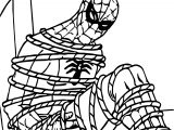 Catched Spider Man Coloring Page