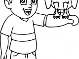 Child And Bird Coloring Page