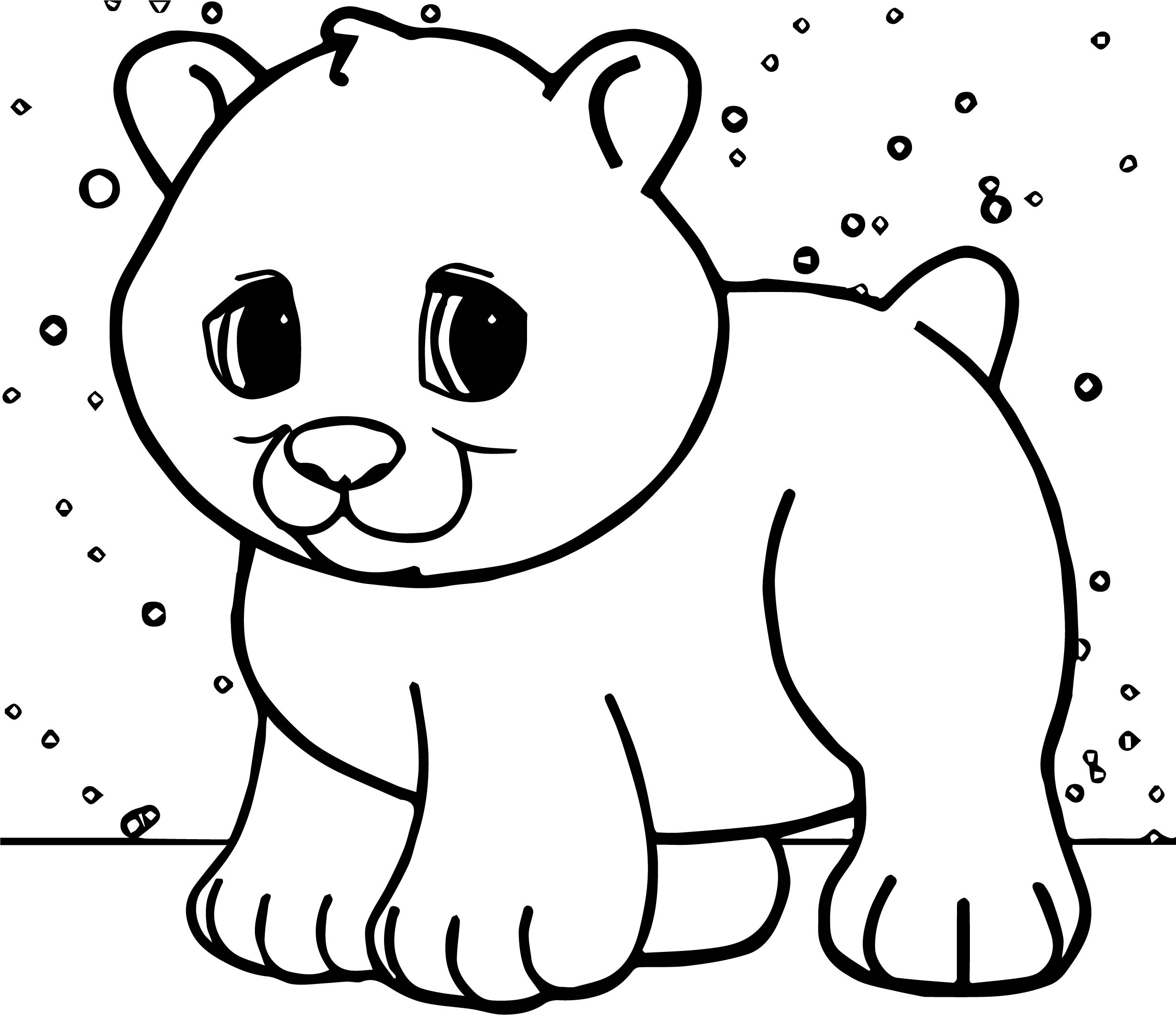 Christmas Polar Bear Face Coloring Pages Coloring Pages